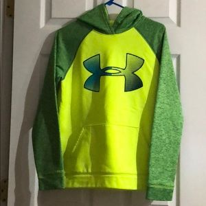 Under Armour Yellow/Green Pullover Hoodie VGUC